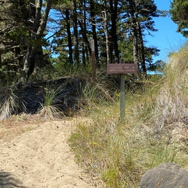 Horse trail to the dunes and beach