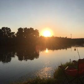 Campsite on the river's edge
