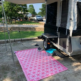 take a good peek at your site depth, not sure a traditional camper would've fit well in this spot (34)