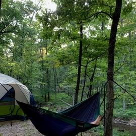 Hammock and tent pad
