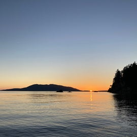 Clear evening from the beach; 10 minute walk/hike from camp