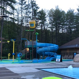kids water park next to the second pool