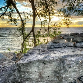 Gorgeous scenery behind Sunset campsites