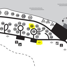 site map of east side of campground