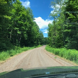 the road gets bumpy towards camp