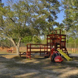The playground is small at SOB.