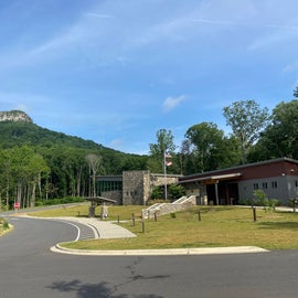 View from the new Visitor's Center parking lot