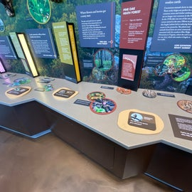 Some Visitor Center displays allow for interaction
