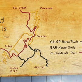 a basic map of the horse trails