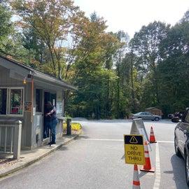 Entrance station…very helpful attendants