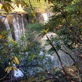 A man-made waterfall…lake overflow