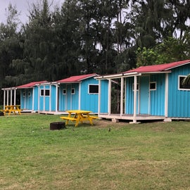 Some of the bunk cabins