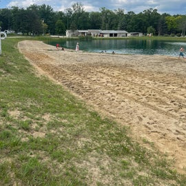 swimming pond, beach