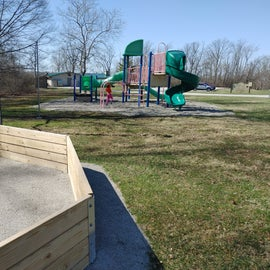 Playground and Gaga pit for the kits to play in near the commissary.