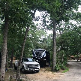 Site #3 - we have a 43ft 5th Wheel.