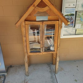 Very cute community book library at the campground
