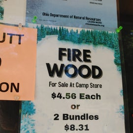 Campfire wood - This wood was tough to get it going so you may want to have some fire starters handy.