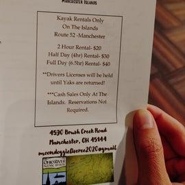 New local kayak rental information