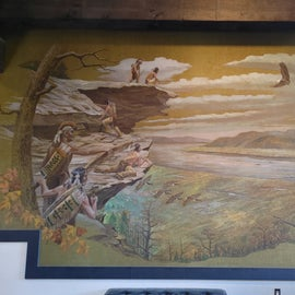 Mural in the lodge of Raven Rock