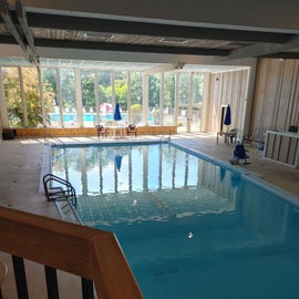Indoor pool and then outside you can walk over to the outdoor pool.