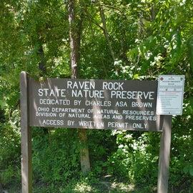 Raven Rock State Nature Preserve sign