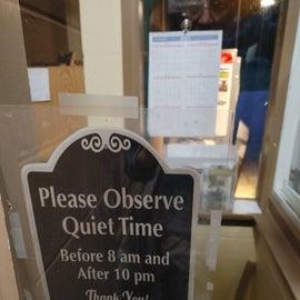 Quiet Hours information