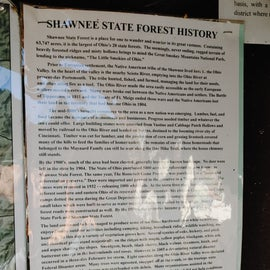 Shawnee State Forest History information