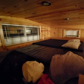 Loft section of the cabin
