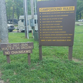 Campground Rules as posted