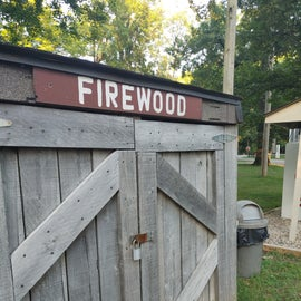 We didn't see anyone to open up the firewood shed so you may want to ask around.