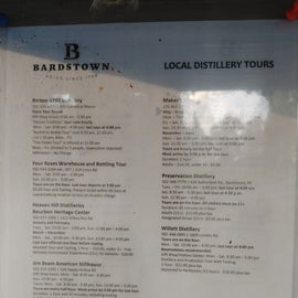 Bardstown Local Distillery is right past the campground.  It is a very short drive and most of them are on the same road.