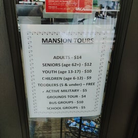 Mansion tours prices. We did not do the museum that was also onsite.