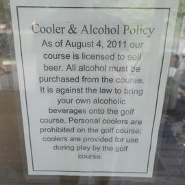 This may explain the Beer golf cart.