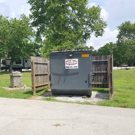 Easy access to the dumpster at this park.