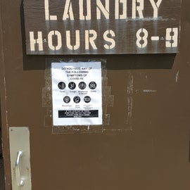 Laundry Hours 8-9 and COVID-19 information