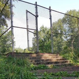 As you can see some TLC is needed on the steps to the tennis courts.