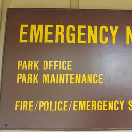 Emergency Numbers for the campground