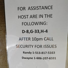 Camp Host information and Security.