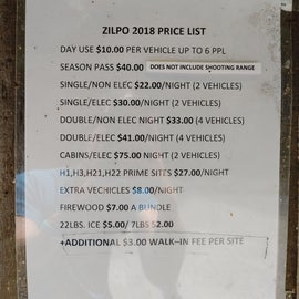 Zilpo Price List this is an older list but it doesn't look like much has changed.