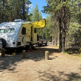 Campsite 43, NFS Lava Lake Campground