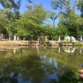 Fishing Pond with Our Daughter