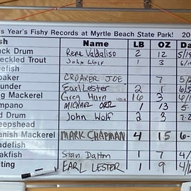 Here's the world records for fish caught on this pier!