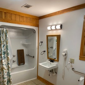 Bathroom for those that need a lot of bars in the shower!