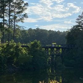 A wooden bridge about 7 miles away towards Bordeaux