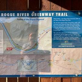 Trail map on info board