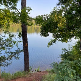 This is an example of direct water access without a path from your campsite (enjoy the late night swimming!)