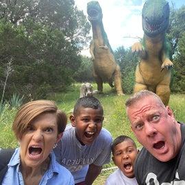 "Dinosaur World (literally across the street) ... fun ""walk"" through a tour of a bunch of ""life size"" replicas 🤷🏻♀️"