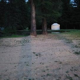 Yurt at twilight