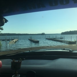 When the lake was flooded this June