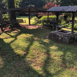 Another socializing site in the Blue Ridge Motorcycle Campground